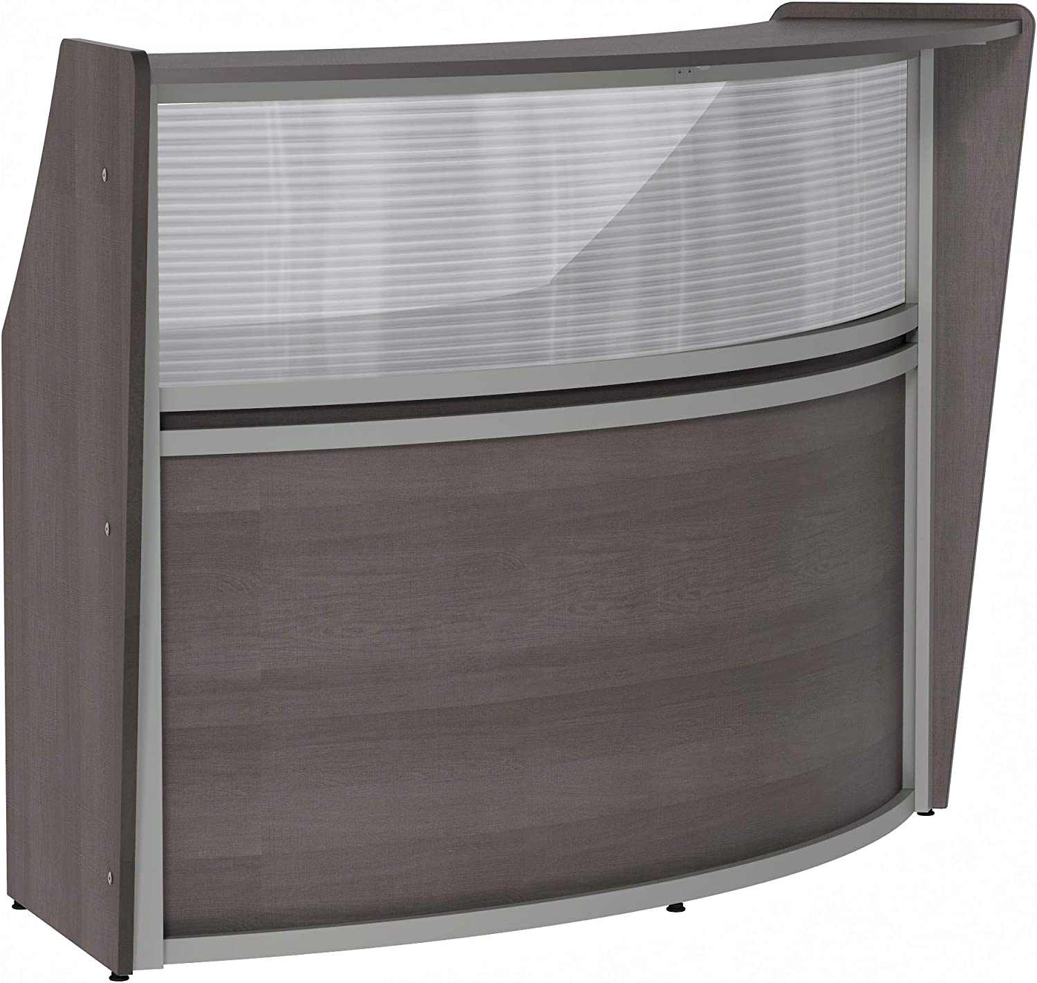 Linea Italia Curved Max 59% OFF Office Austin Mall Clear Panel to Single Assembly Easy