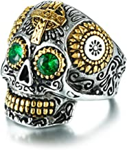Best skull ring with green eyes Reviews
