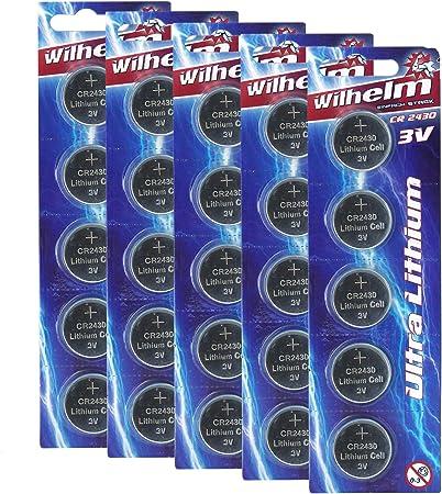 5 X Cr2430 Wilhelm Lithium Knopfzelle 3v 270mah Elektronik