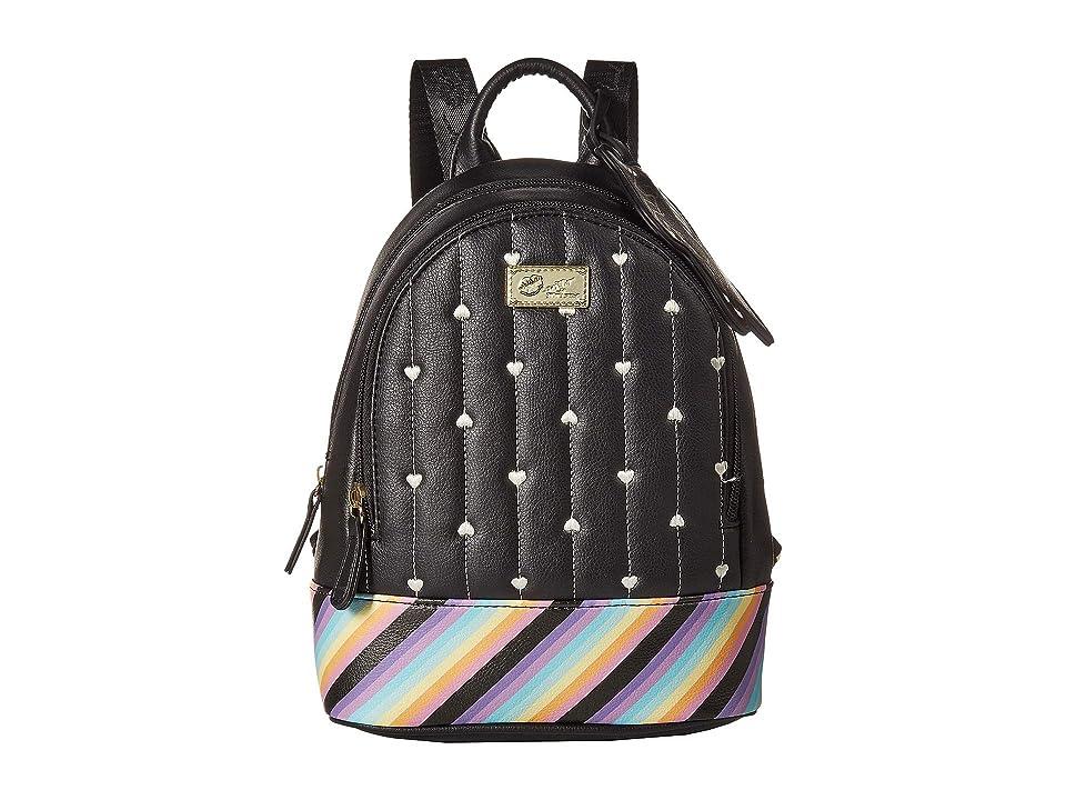 Luv Betsey Jaz Mid Size PVC Backpack (Black/Multi) Backpack Bags