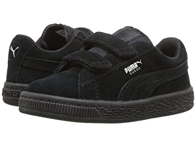 Puma Kids Suede 2 Straps (Toddler) (Puma Black/Puma Silver) Kids Shoes