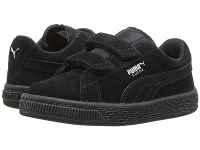 Puma Kids Suede 2 Straps (Toddler) (Puma Black/Puma Silver) Kids Shoes