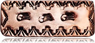 $170Tag Bear Paw Navajo Certified Copper Native American Nickel Money Clip 11267-12 Made by Loma Siiva