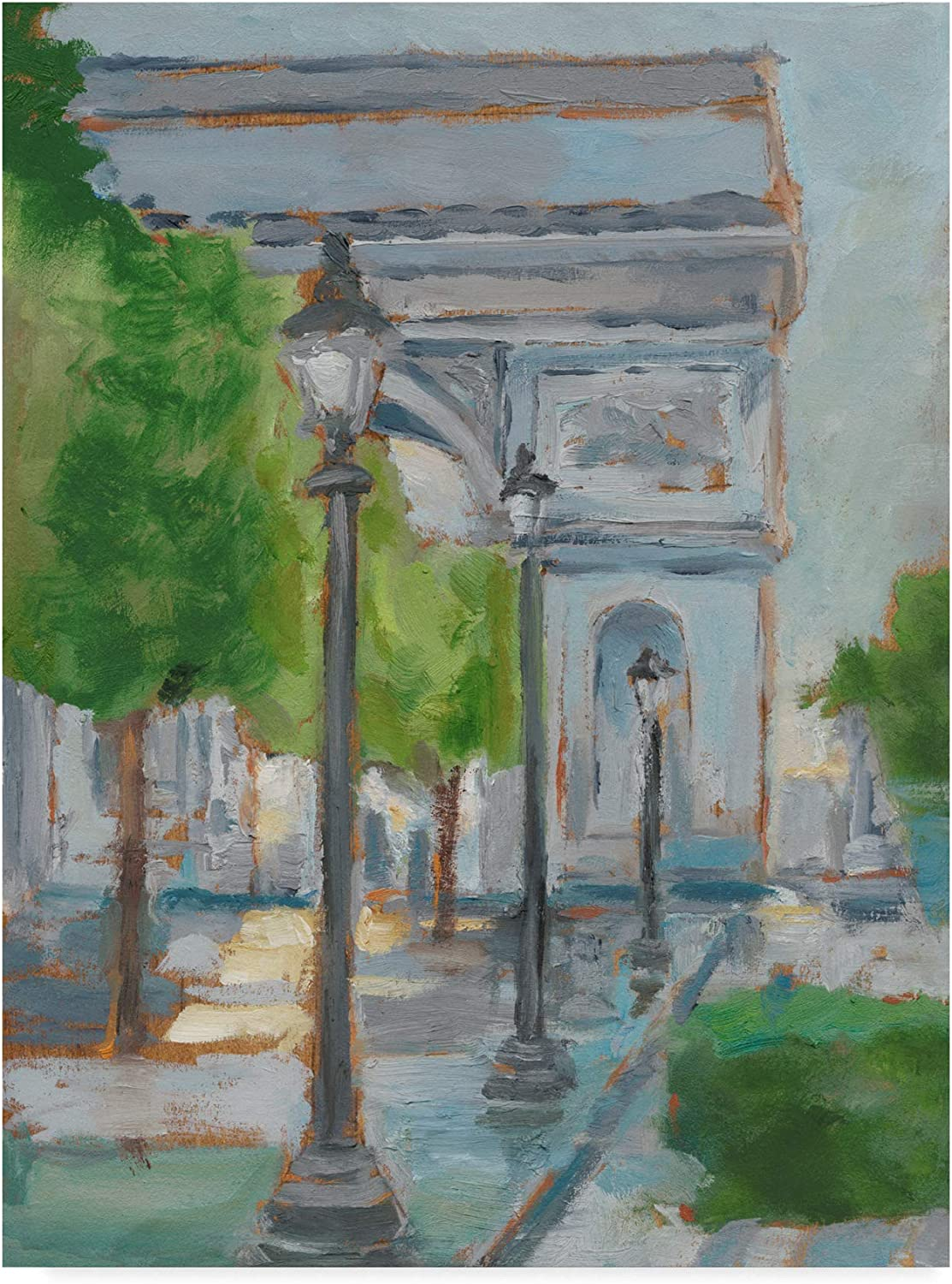 Trademark Fine Art Impressionist View of Paris I by Ethan Harper, 14x19