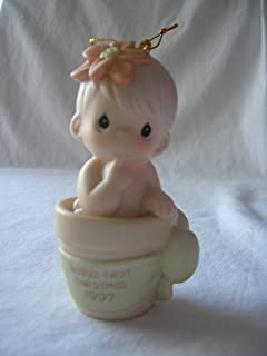 Precious Moments Baby's First Christmas Boy Ornament '97 Retired