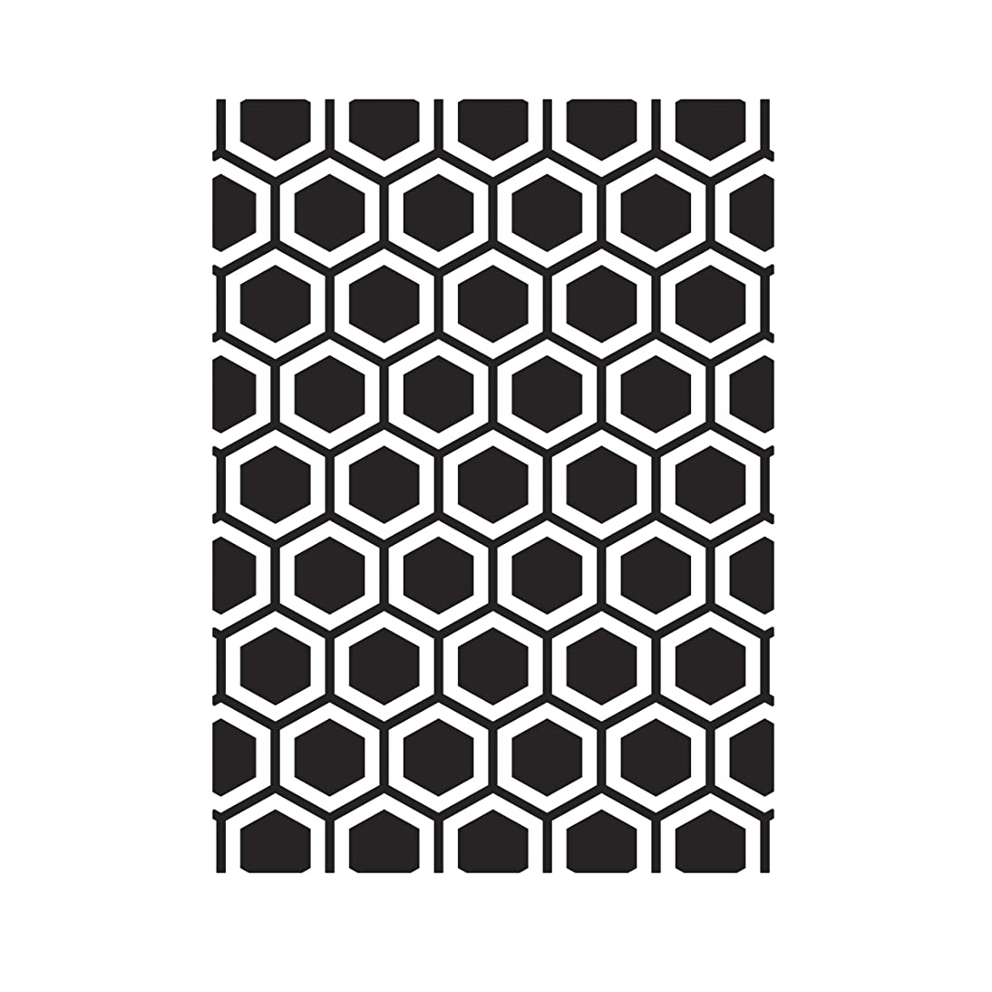 Darice Honeycomb, 4.25 x 5.75 inches Embossing Folder, Clear