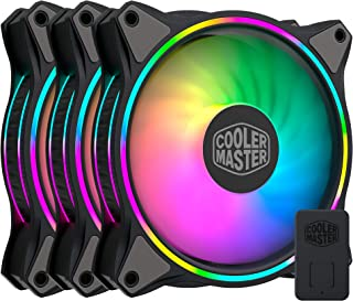 Cooler Master MasterFan MF120 Halo Duo-Ring Addressable RGB Lighting 120mm 3 Pack with Independently-Controlled LEDs, Abso...