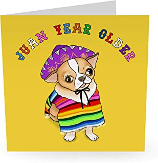 Central 23 - Funny Animal Birthday Card For Mom Dad Husband Wife Him Her Men & Women - Cute Dog - Comes With Fun Stickers