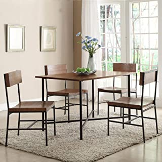 Fletcher 5 Piece Rectangular Dining Table Set with Fletcher Dining Chairs