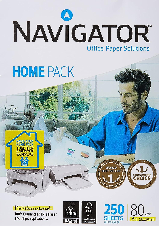 Navigator Home Pack - Pack de 250 hojas, A4, 80 gr, 1 paquete