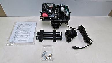 Fleck 9100 Mechanical Water Softener Control Valve Dual Tank Replacement Head, Black