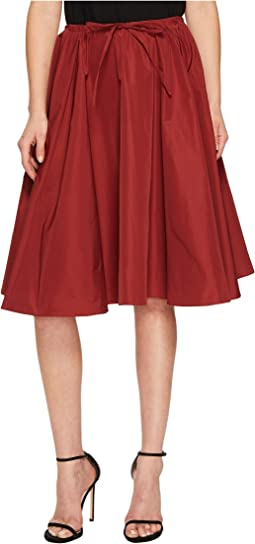 Jil Sander Navy - Faille Skirt with Drawstring Waist