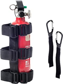 Zujara Roll Bar Fire Extinguisher Holder Comes with 2-Pack Carabiner Clip Straps