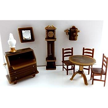 Mobili per casa delle bambole scala 1:12 COPPIA di sedie in legno semplice CUORE BEF047