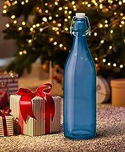Treo by Milton Giara Bottle Silica Glass 1000 ml 1 Pc, Blue