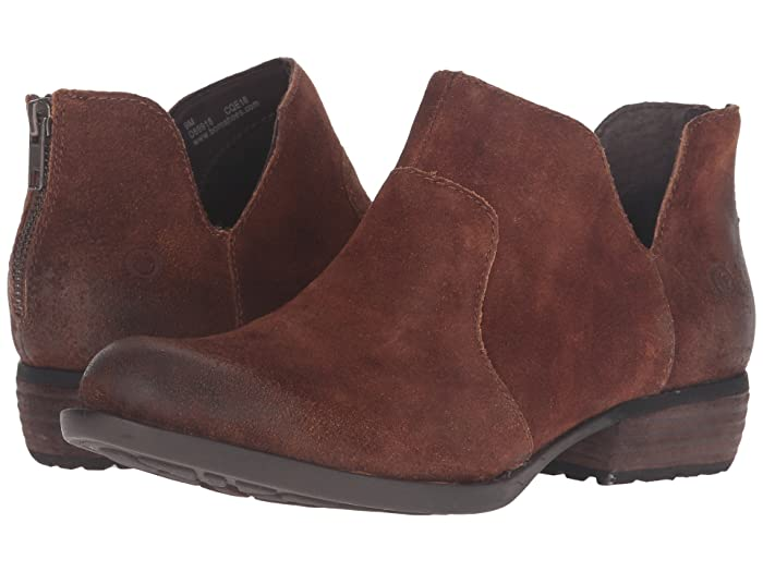 Born  Kerri (Tobacco Distressed) Womens Dress Zip Boots
