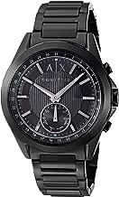 Armani Exchange Men's Hybrid Smartwatch, Black-Tone Stainless Steel, 44 mm