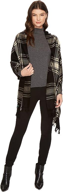 Icon Plaid Blanket Wrap