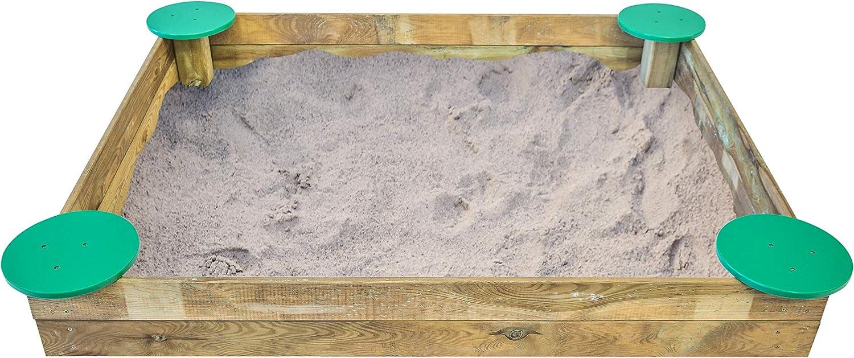 MASGAMES Sandkasten Planschbecken für Kinder Deluxe L mit Sitzen an den Rndern für drahtgebundenen Sentar