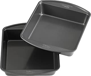 Wilton Perfect Results Premium Non-Stick 8-Inch Square Cake Pans, Set of 2