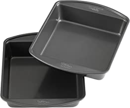 Wilton Perfect Results Premium Non-Stick Bakeware 8-Inch Square Cake Pans, Multipack of 2