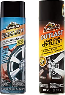 Armor All Outlast Brake Dust Repellent, 11-Ounce bundle with Armor All Quicksilver Wheel & Tire Cleaner, 20-Ounce