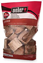 Weber 17142 Cherry Wood Chunks, 350 cu. in. (0.006 Cubic Meter), 4 lb
