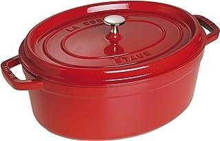 Staub Cast Iron Roaster/Cocotte, Oval 37 cm, 8 L, Cherry Red