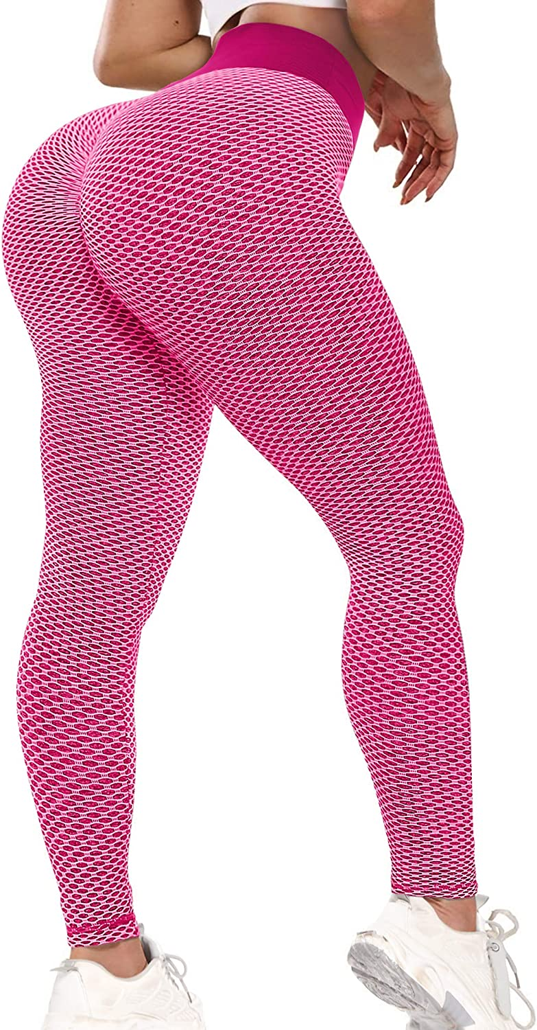 Scrunch Butt Lifting Leggings for Women High Waisted Peach Lift Booty Workout Ruched Tummy Control Tights Pants