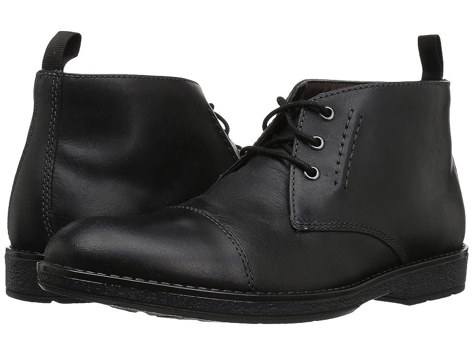 Clarks Hinman Mid (Black Leather) Men