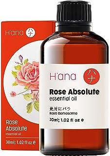 Huile essentielle de rose - Catégorie thérapeutique 100% pure pour l'aromathérapie, les soins de la peau, les cheveux et l...