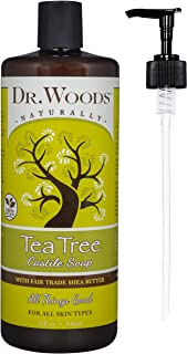 Dr. Woods Tea Tree Castile Soap with Organic Shea Butter and Pump, 32 Ounce