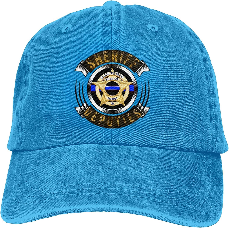 Sheriff Deputies Cowboy Hat Men and Women Baseball Cap Retro Dad Hat Adjustable Sun Hat