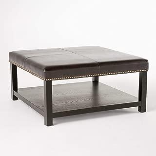 Christopher Knight Home Living Kelapith Contemporary Polyurethane Ottoman Brown Bench w/Rack