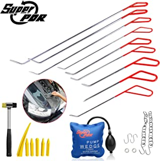 Super PDR 23pcs DIY Dent Removal Rods Set Paintless Dent Repair Tools for Car Dent Remover Puller Hail Damage Repair Kit Whale Tail Tool Sets Tips
