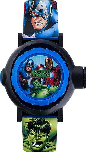 Avengers AVG3536 - Reloj Digital para niños, Digital, con Esfera Multicolor y Correa Azul de PU
