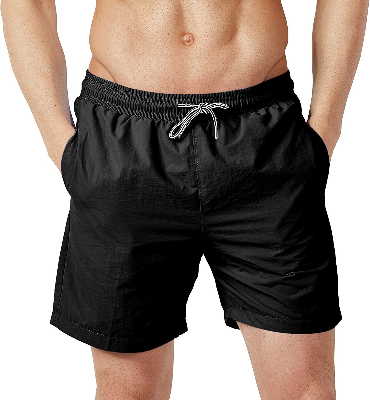 Dyorigin Mens Boardshorts Swim Trunks Quick Dry Shorts for Men with Mesh Lining