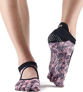 ToeSox Women's Low Rise Full Toe Grip Non-Slip for Ballet, Yoga, Pilates, Barre Toe Socks, womens, S018