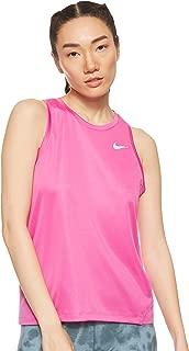 Nike Women's MILER Tank, Silver(Active Fuchsia/Reflective Silv623), Small