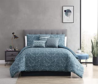 Riverbrook Home Daytona Comforter Set, Queen, Set of 7, Blue