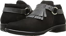 Black Velvet Nubuck/Tin Gray Leather
