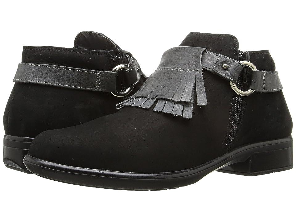 Naot Meltemi (Black Velvet Nubuck/Tin Gray Leather) Women