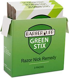 Sponsored Ad - BARBERUPP Styptic Stick Shave Accessories (Green Stix, 3 Pack) Stops Bleeding For Razor Nicks For Men & Wom...