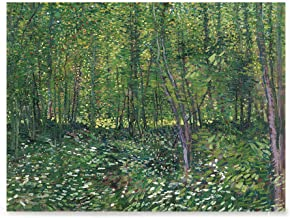 EzPosterPrints - Vincent Van Gogh Art Reproduction Posters - Poster Printing - Wall Art Print for Home Office Decor - Trees and Undergrowth - 32X24 inches