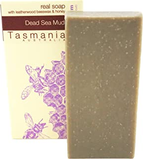Beauty and the Bees 100% Natural Dead Sea Mud & Leatherwood Honey Soap Bar Deep Cleansing for Face Hands & Body | Zero was...