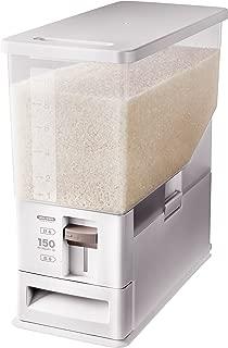 アスベル 計量こめびつ 12kg  ホワイト 7503