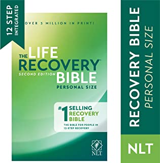 Tyndale NLT Life Recovery Bible (Personal Size, Softcover) 2nd Edition - Addiction Bible Tied to 12 Steps of Recovery for ...