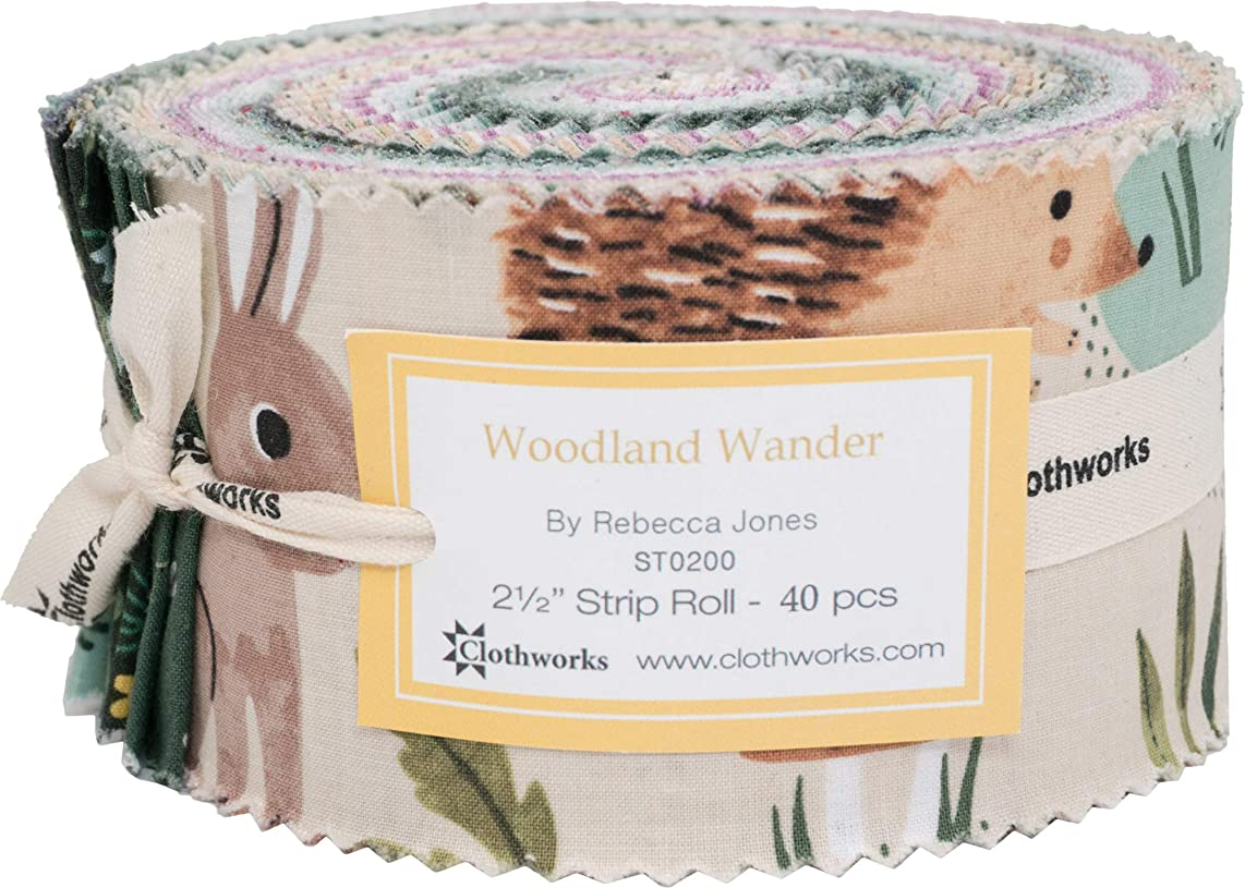 Diane Neukirch Woodland Wander Strip Roll 40 2.5-inch Strips Jelly Roll Clothworks