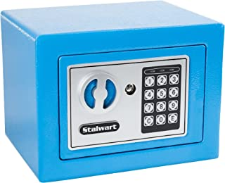 Digital Security Safe Box for Valuables- Compact Waterproof and Fireproof Steel Lock Box with Electronic Combination Keypa...