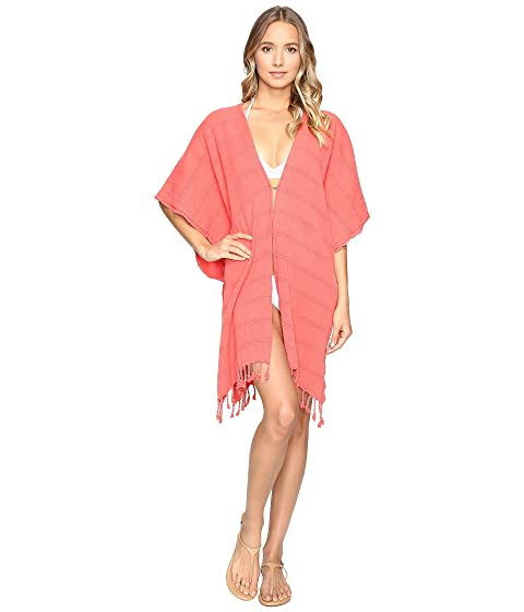 HAT ATTACK Beach Poncho Cover-Up, Coral